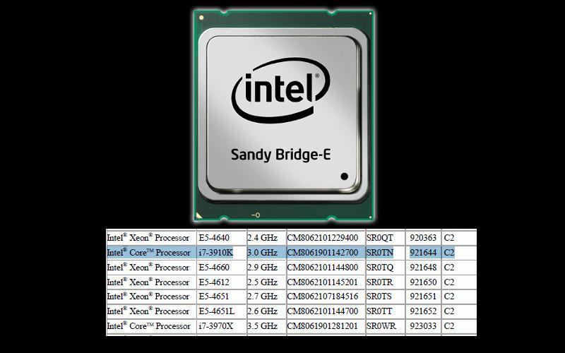 Intel core i7-3910k